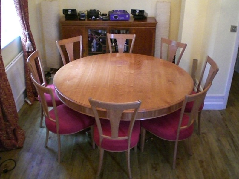 Gregory baglin furniture6 foot round cherry table for Table 6 feet