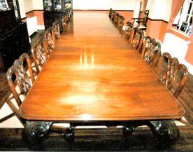 Large mahogany table